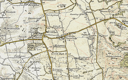 Old map of Bar Moor in 1901-1903