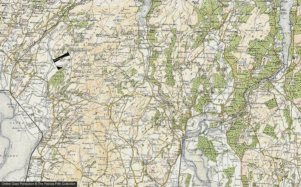 Old Map of Historic Map covering Wood Gate in 1903-1904