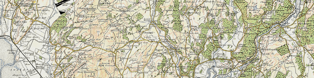 Old map of Wood Gate in 1903-1904