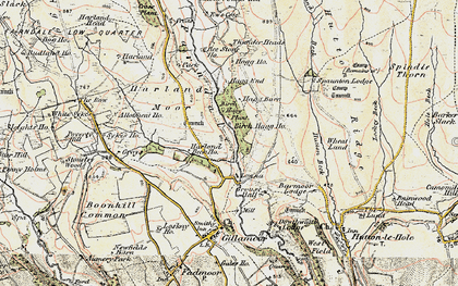 Old map of Wheat Lund in 1903-1904