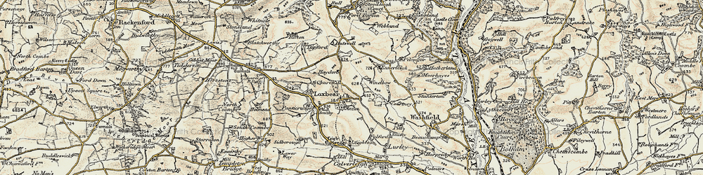 Old map of Windbow in 1898-1900