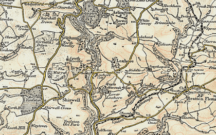Old map of Woolley Wood in 1900