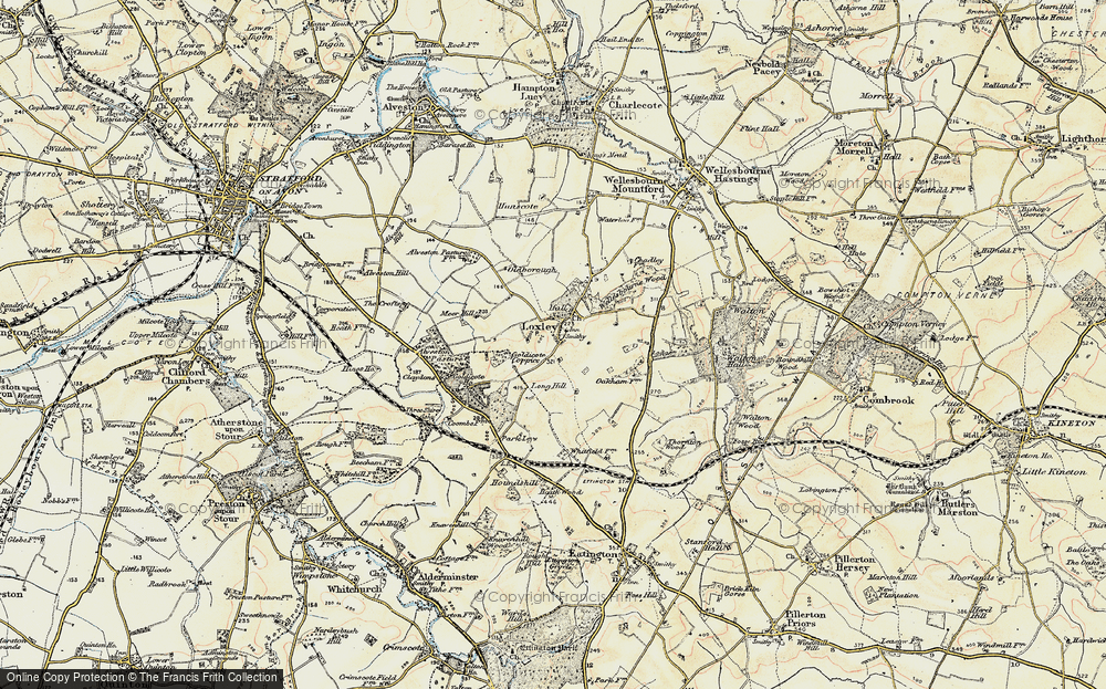 Old Map of Historic Map covering Alveston Pastures in 1899-1901