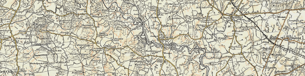 Old map of Loxwood in 1897-1900