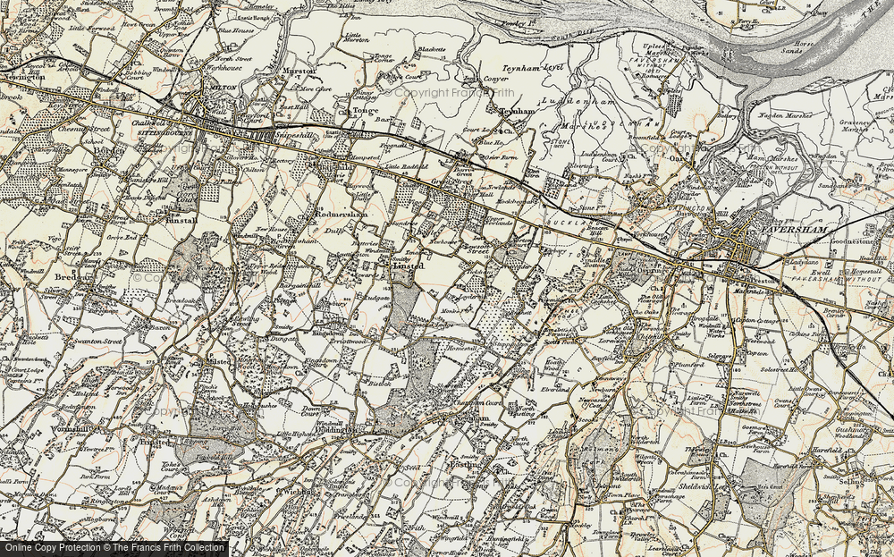 Old Map of Historic Map covering Tickham in 1897-1898