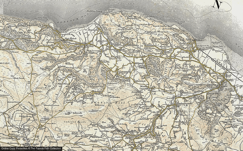 Old Map of Luccombe, 1898-1900 in 1898-1900
