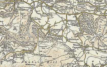 Old map of Luccombe in 1898-1900