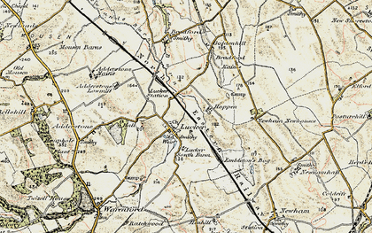 Old map of Adderstone Mains in 1901-1903