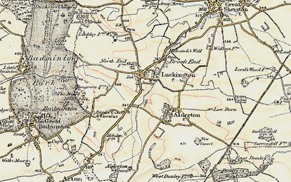 Old map of Luckington in 1898-1899