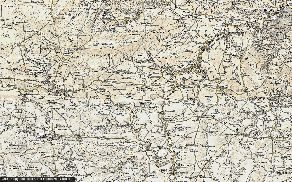 Old Map of Historic Map covering Langham in 1900