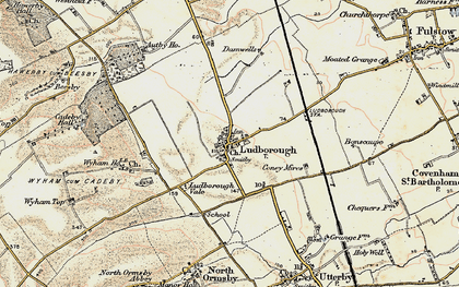 Old map of Wyham in 1903-1908