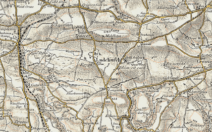 Old map of Westerton in 1901