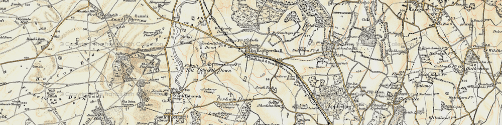 Old map of Widgerly Down in 1897-1899