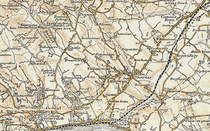Old map of Ludgvan in 1900