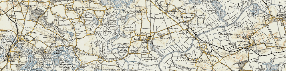 Old map of Ludham in 1901-1902