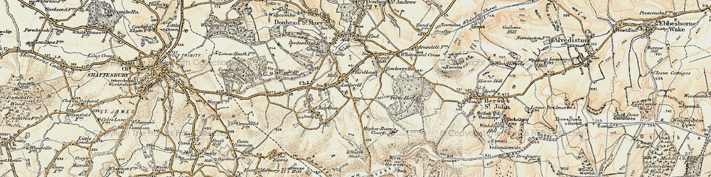 Old map of Ludwell in 1897-1909