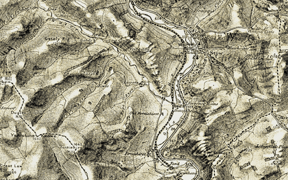 Old map of Yardstone Knowe in 1903-1904