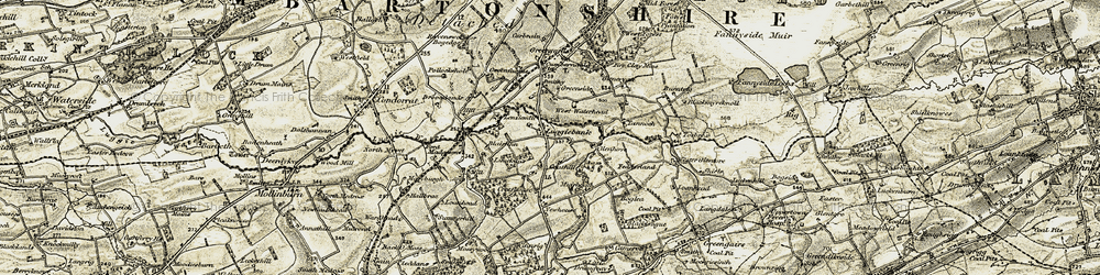 Old map of Wester Glentore in 1904-1905