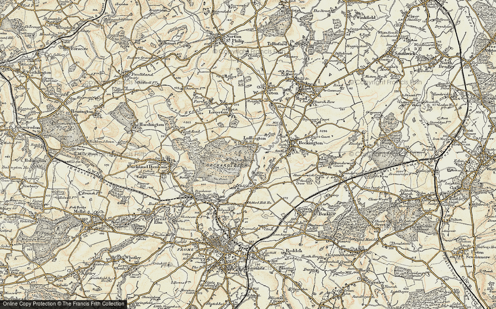 Old Map of Lullington, 1898-1899 in 1898-1899