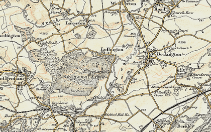 Old map of Lullington in 1898-1899