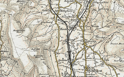 Old map of Wet Moss in 1903