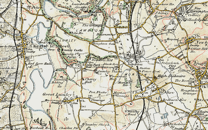 Old map of Lumley Thicks in 1901-1904