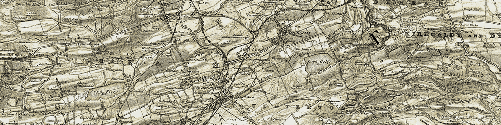 Old map of Tollie Hill in 1903-1906
