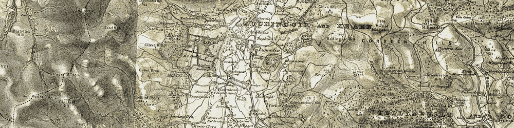 Old map of Allantersie in 1908-1910