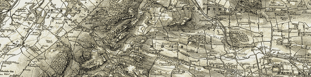 Old map of Wester Keith in 1908