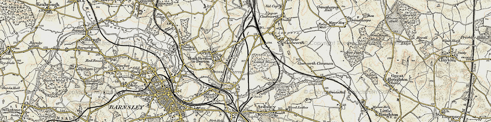 Old map of Lundwood in 1903