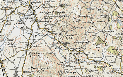 Old map of Badger Gate in 1903-1904