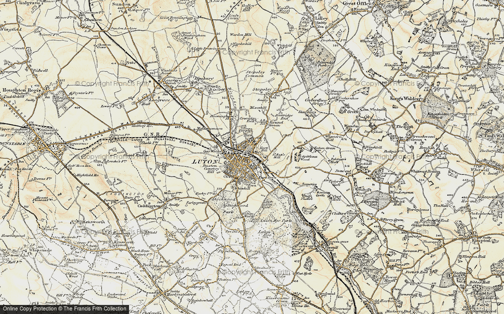 Old Maps of Luton Francis Frith