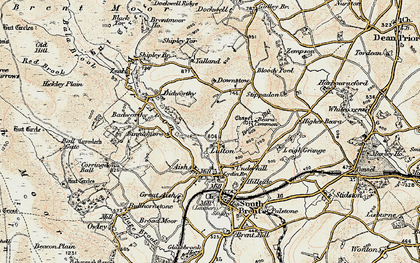 Old map of Yalland in 1899