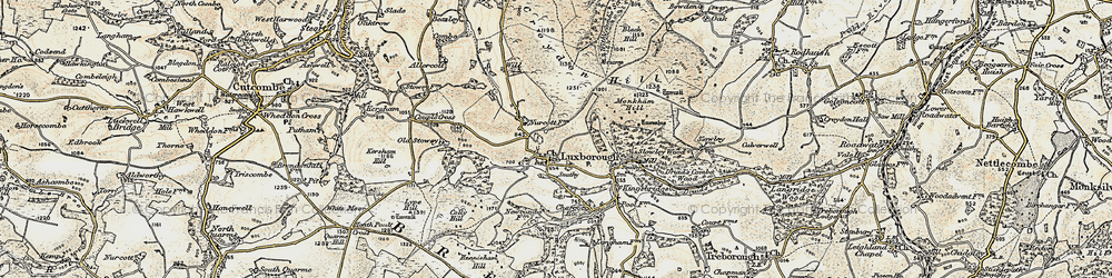 Old map of Withycombe Scruffets in 1898-1900