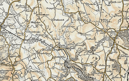 Old map of Luxulyan in 1900