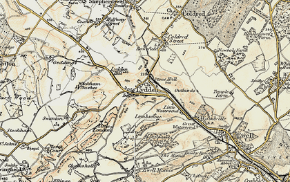 Old map of Wickham Bushes in 1898-1899