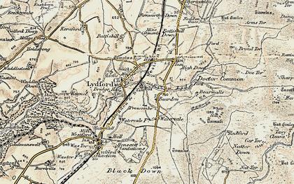 Old map of Willsworthy Range in 1899-1900