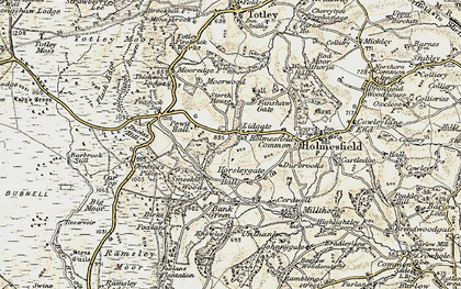 Old map of Lydgate in 1902-1903