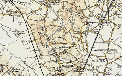 Old map of Lydiate in 1902-1903