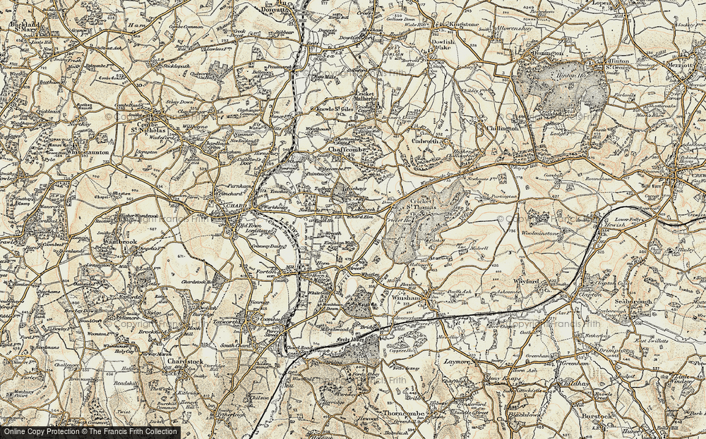 Old Map of Historic Map covering Avishays in 1898-1899