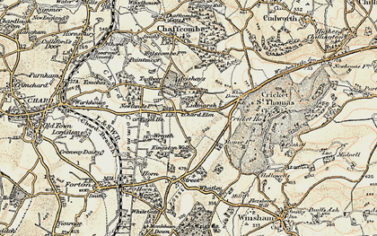 Old map of Avishays in 1898-1899