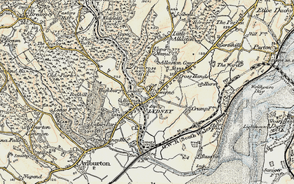 Old map of Lydney in 1899-1900