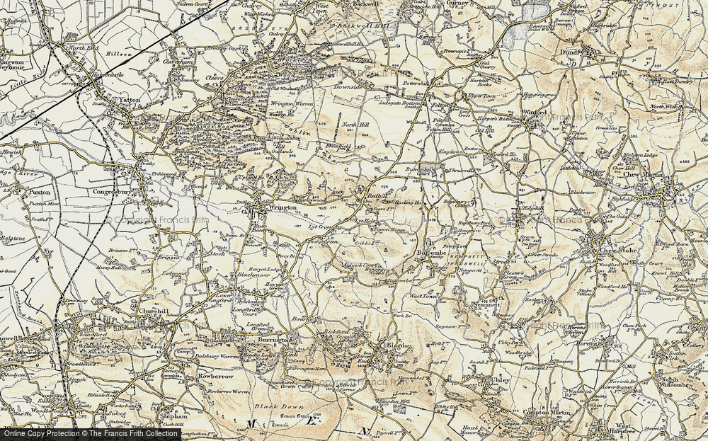 Old Map of Historic Map covering Aldwick Court in 1899