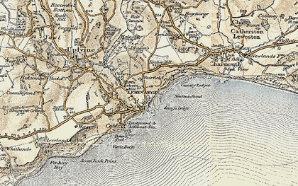 Old map of Lyme Regis in 1899