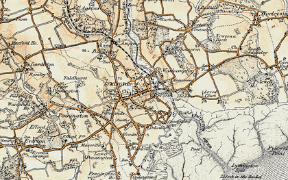 Old map of Lymington in 1897-1909