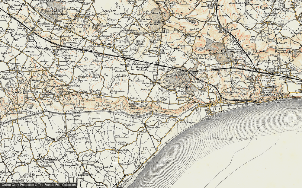Old Map of Lympne, 1898-1899 in 1898-1899