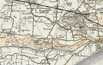 Old map of Lympne in 1898-1899