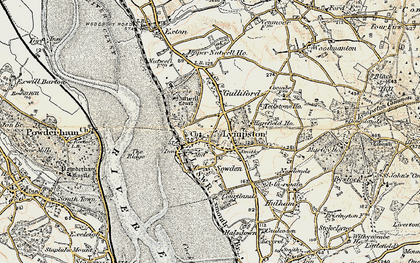 Old map of Lympstone in 1899