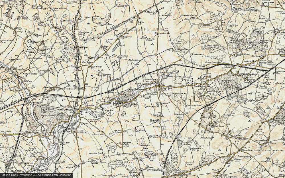 Old Map of Historic Map covering Laverstoke Ho in 1897-1900