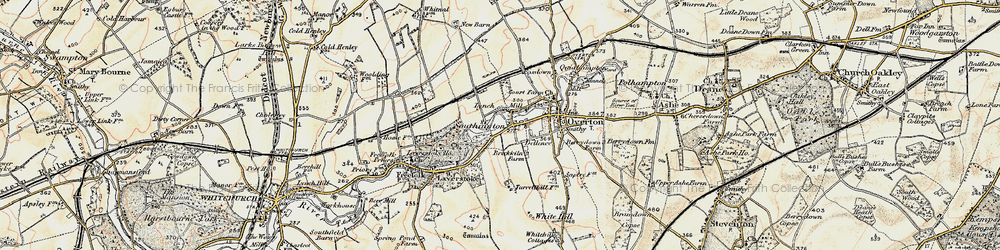 Old map of Laverstoke Ho in 1897-1900